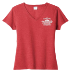 Ladies V-Neck T-shirt heather red