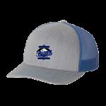Richardson Snapback Trucker Cap - Heather Grey/Royal Blue