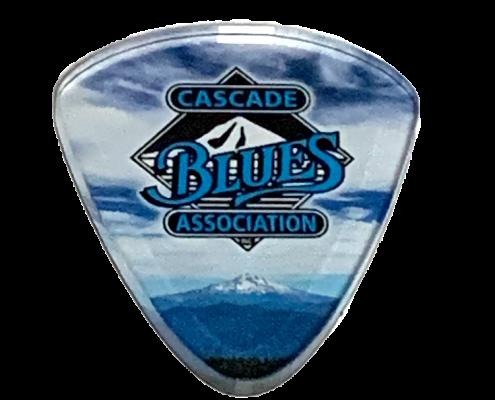 Guitar Pick refrigerator magnet blue
