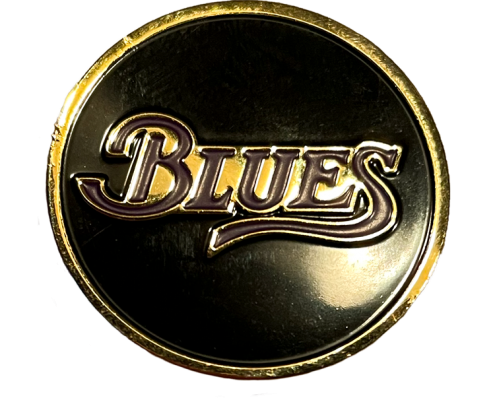 Blues Pin - Black background
