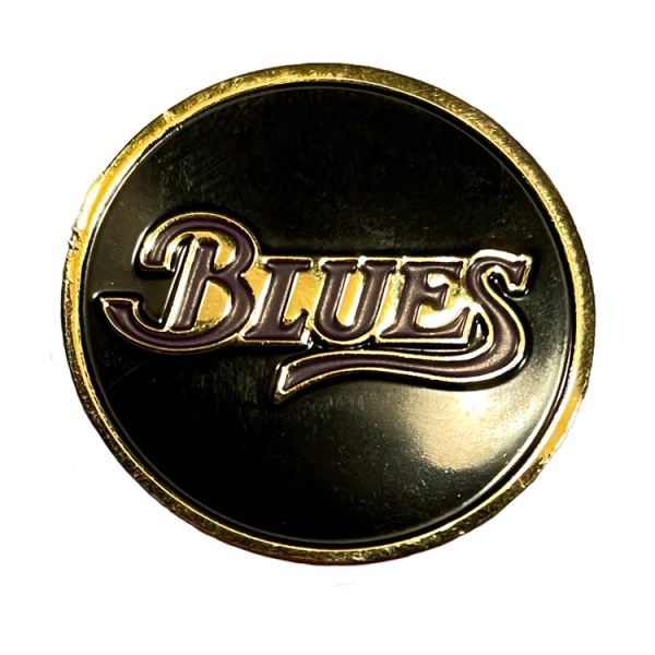 Blues Pin - Black background